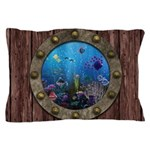 Underwater Love Porthole Pillow Case