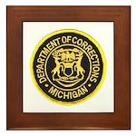 Michigan Corrections Framed Tile
