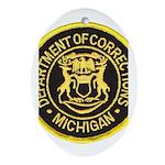 Michigan Corrections Oval Ornament