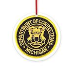 Michigan Corrections Ornament (Round)