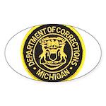 Michigan Corrections Oval Sticker
