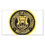 Michigan Corrections Rectangle Sticker