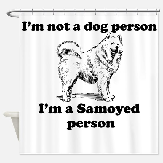 Samoyed Person Shower Curtain