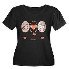 Peace Love Poodle Plus Size T-Shirt