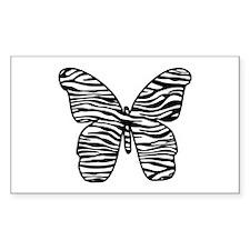 Black Zebra Stripes Butterfly Decal
