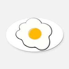Fried Egg Oval Car Magnet