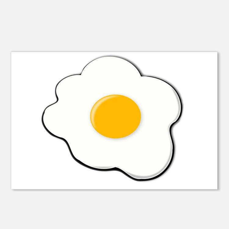 Fried Egg Postcards (Package of 8)