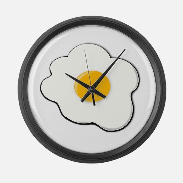 Fried Egg Large Wall Clock
