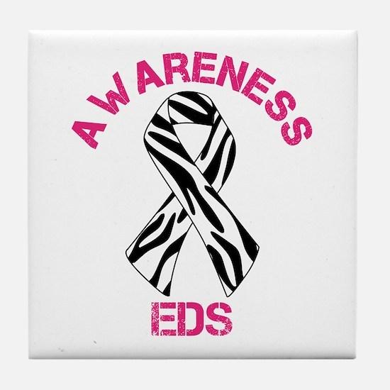 EDS Awareness Zebra Stripe Awareness Ribbon Tile C