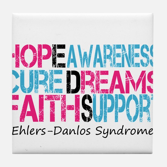 Ehlers Danlos Syndrome Hope Cure Awareness Tile Co