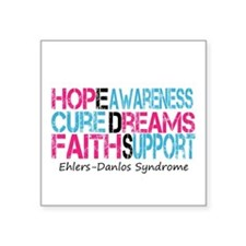 Ehlers Danlos Syndrome Hope Cure Awareness Sticker