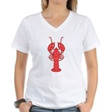 Lobster Womens V-Neck T-shirts