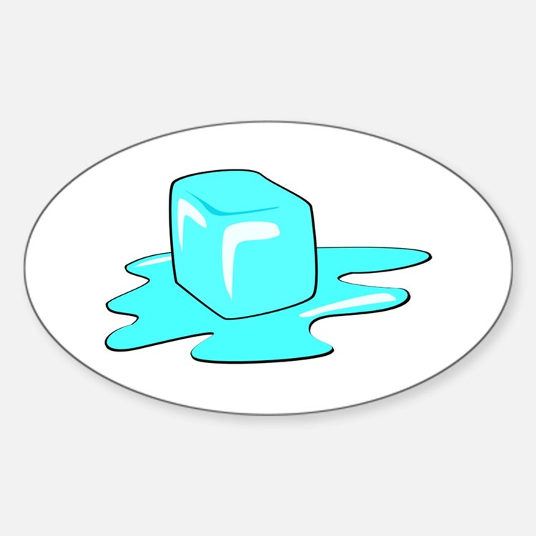 Melting Ice Cube Decal