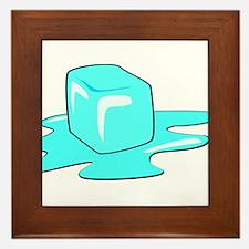 Melting Ice Cube Framed Tile