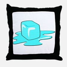 Melting Ice Cube Throw Pillow