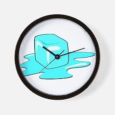Melting Ice Cube Wall Clock