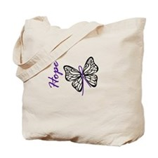 Hope Butterfly Tote Bag