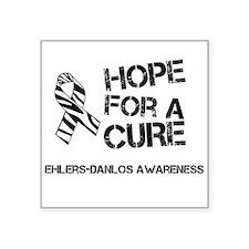 Ehlers Danlos Hope For A Cure Zebra Ribbon Sticker