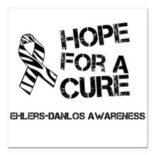 Ehlers Danlos Hope For A Cure Zebra Ribbon Square