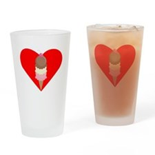 Ice Cream Cone Heart Drinking Glass