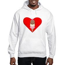 Ice Cream Cone Heart Jumper Hoody