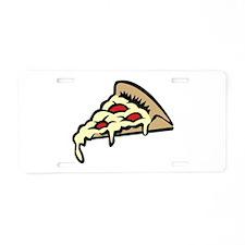 Slice of Pizza Aluminum License Plate