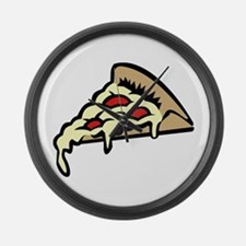 Slice of Pizza Large Wall Clock