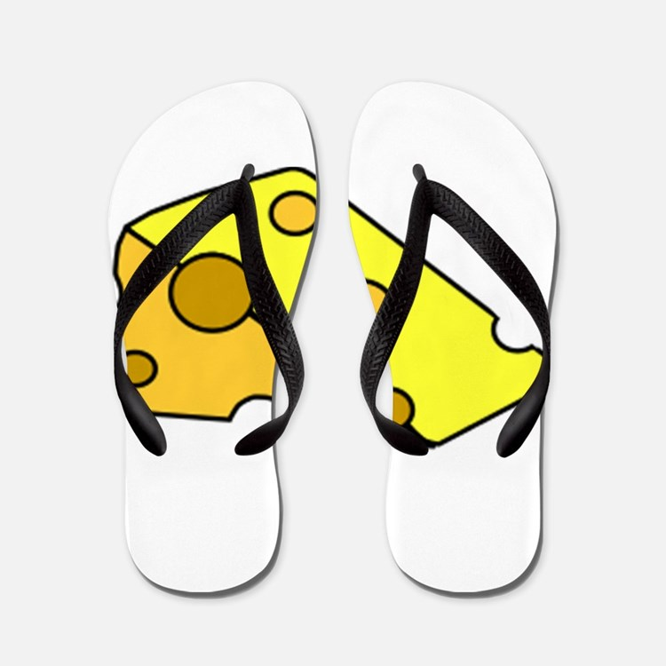 Swiss Cheese Flip Flops