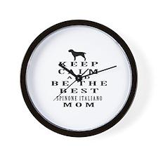 Keep Calm Spinone Italiano Designs Wall Clock