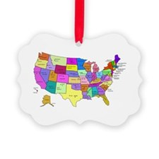 United States and Capital Cities Ornament