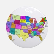 United States and Capital Cities Ornament (Round)