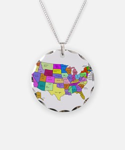 United States and Capital Cities Necklace