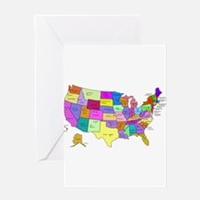 United States and Capital Cities Greeting Card