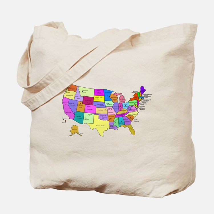 United States and Capital Cities Tote Bag