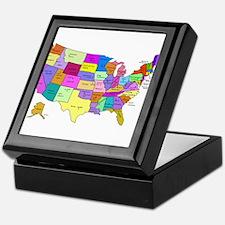 United States and Capital Cities Keepsake Box