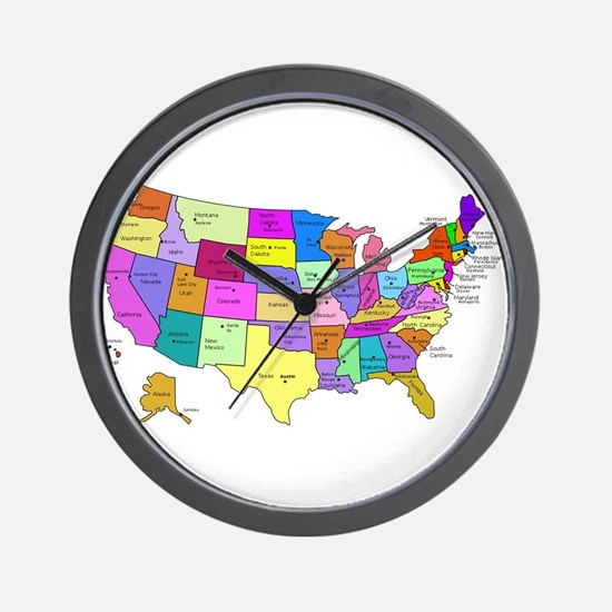 United States and Capital Cities Wall Clock
