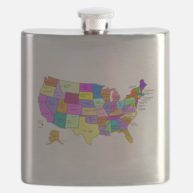 United States and Capital Cities Flask