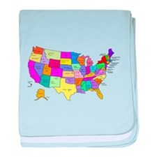 United States and Capital Cities baby blanket