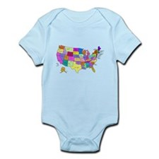 United States and Capital Cities Body Suit