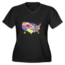 United States and Capital Cities Plus Size T-Shirt