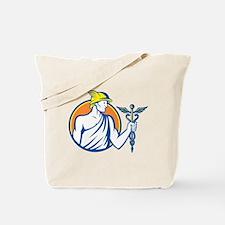 Mercury Holding Caduceus Staff Tote Bag