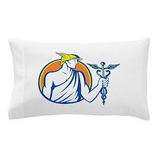 Mercury Holding Caduceus Staff Pillow Case