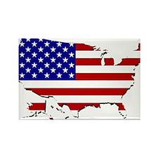 US Flag Map Rectangle Magnet (100 pack)