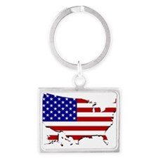 US Flag Map Keychains