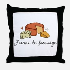 Jaime le fromage Throw Pillow