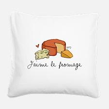 Jaime le fromage Square Canvas Pillow