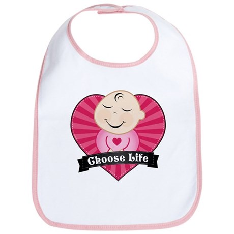 Choose Life Pink Bib