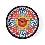 MANDALA SERIES: Fiery Sun Star Wall Clock