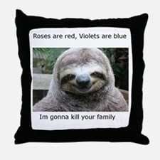 Killer Sloth Throw Pillow