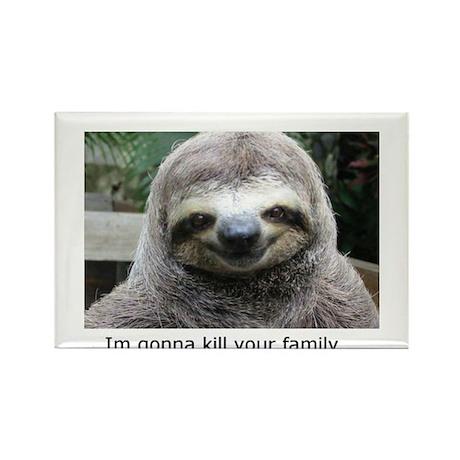 Killer Sloth Rectangle Magnet